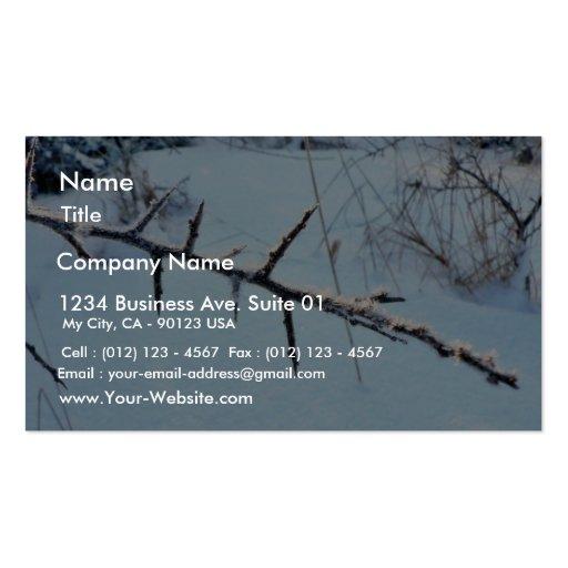 Ramita helada tarjetas de negocios