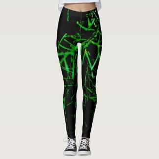 ramitas verdes leggings