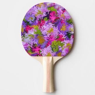 Ramo de diseño colorido del arte abstracto de los pala de ping pong