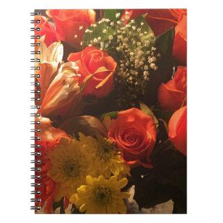 Ramo de flores cuaderno