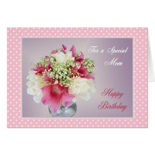 Ramo de flores - tarjeta de cumpleaños de la mamá