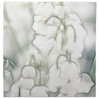 Ramo de la flor del lirio de los valles servilleta de tela