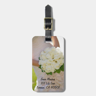 Ramo de la flor etiquetas para maletas