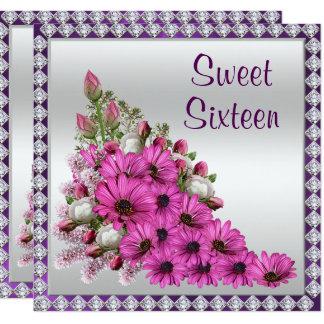 Ramo de la lila y dulce hermosos 16 de los invitación 13,3 cm x 13,3cm