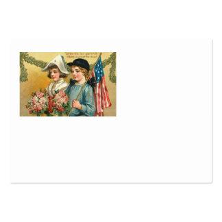 Ramo de los niños del Victorian de la guirnalda de Tarjetas De Visita Grandes