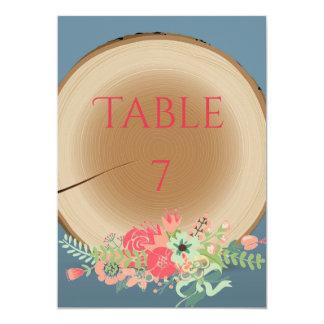 Ramo de madera rústico - número de la tabla invitación 12,7 x 17,8 cm