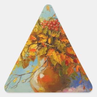 Ramo de otoño pegatina triangular