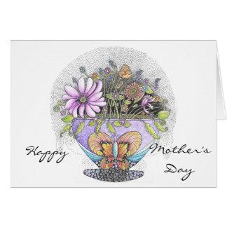 Tarjeta Ramo de tarjeta del día de madre de las flores