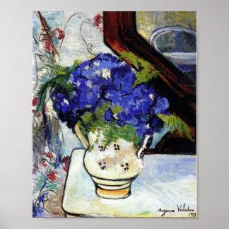 Ramo de violetas de Parma de Suzanne Valadon Póster