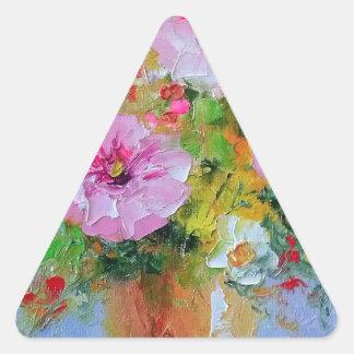 Ramo del campo pegatina triangular