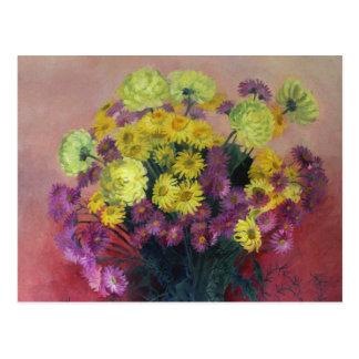 Ramo del crisantemo - hola, postal del amor