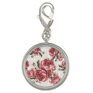 Ramo dibujado romántico de los rosas rojos del dije