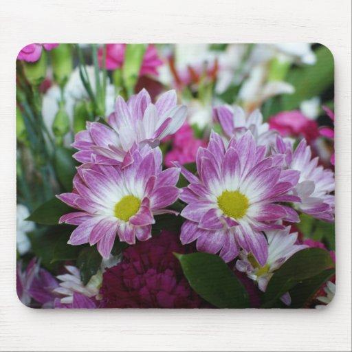 Ramo feliz floral del aniversario de boda de Mousp Tapete De Raton