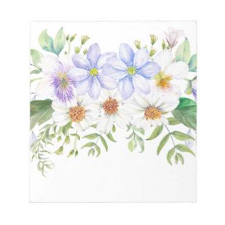 Ramo floral del campo bloc de notas