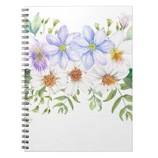 Ramo floral del campo cuaderno