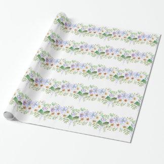 Ramo floral del campo papel de regalo