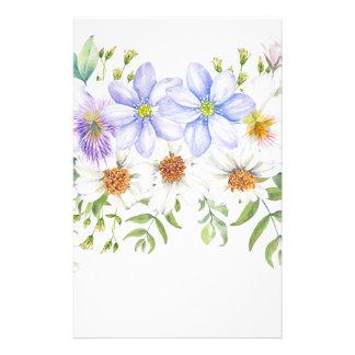 Ramo floral del campo papelería