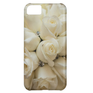 Ramo imponente del boda del rosa blanco carcasa iPhone 5C