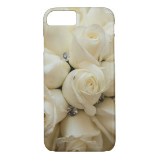 Ramo imponente del boda del rosa blanco funda iPhone 7