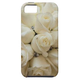 Ramo imponente del boda del rosa blanco funda para iPhone SE/5/5s