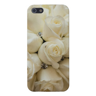 Ramo imponente del boda del rosa blanco iPhone 5 carcasa