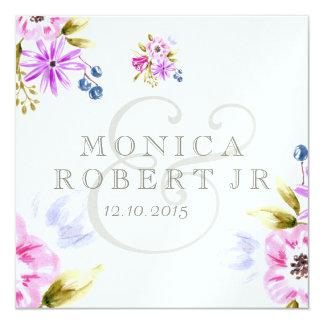 Ramo incompleto de la flor de Moden Invitación 13,3 Cm X 13,3cm