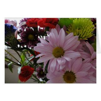 Ramo Multi de la flor, cumpleaños Tarjeta De Felicitación