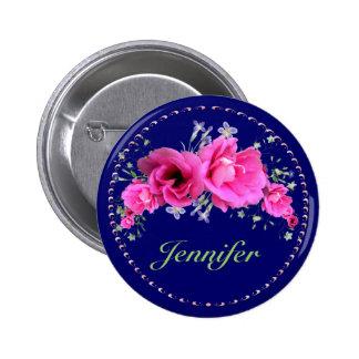 Ramo nupcial del rosa de botones de la ducha pin