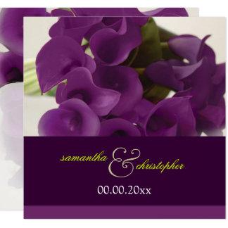 RAMO PÚRPURA de la CALA de PixDezines Invitación 13,3 Cm X 13,3cm