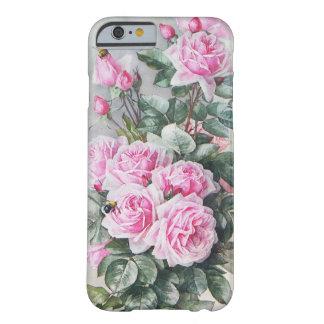 Ramo rosado de los rosas del vintage funda de iPhone 6 barely there