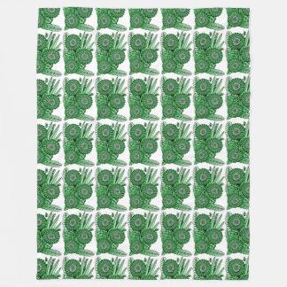 Ramo verde de la flor de la margarita del Gerbera Manta Polar