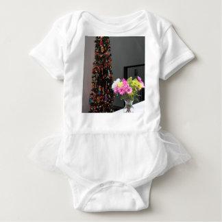 Ramo y árbol de navidad coloridos de la flor body para bebé