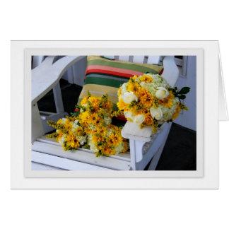 Ramos del boda en tarjeta de felicitación de la