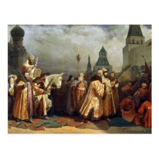 Ramos Domingo en Moscú a la hora del Tsar Alexei Tarjeta Postal