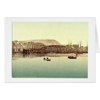 Ramsey, puente del hierro, isla del hombre, Inglat Tarjetas