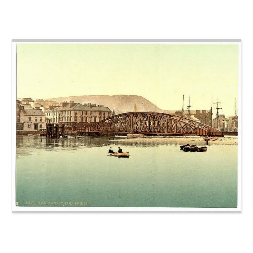 Ramsey, puente del hierro, isla del hombre, Inglat Tarjetas Postales