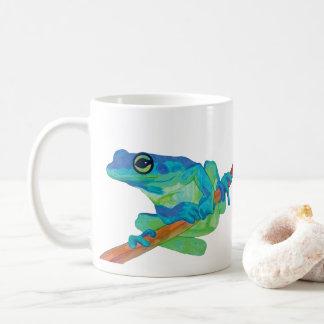 Rana azul taza de café