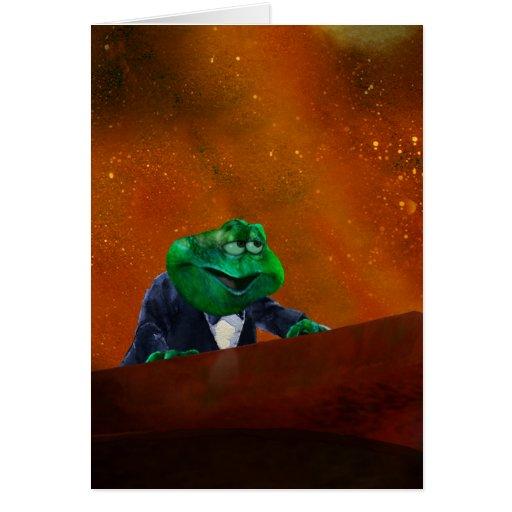 Rana caliente en el piano 2 tarjeta