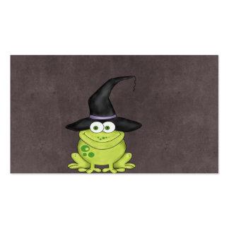 Rana de Halloween Tarjetas De Visita