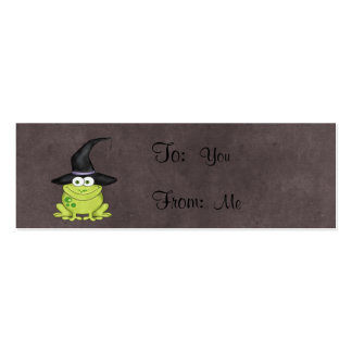 Rana de Halloween Tarjetas De Visita Mini