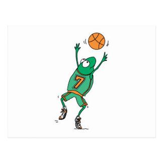 rana de salto del baloncesto postal