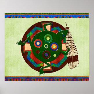 Rana del arte popular del nativo americano posters
