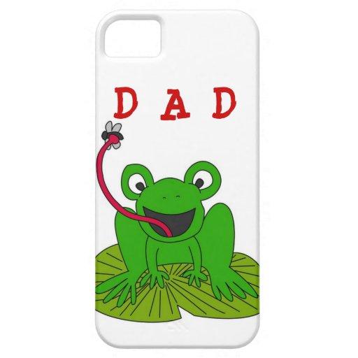 Rana del papá en Lillyput iPhone 5 Case-Mate Cárcasas