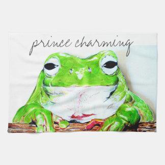 Rana el encantar de príncipe toalla de cocina