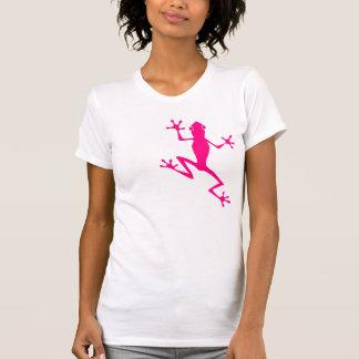 Rana fucsia camiseta