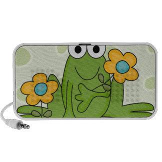 rana linda del froggy de la primavera mp3 altavoz