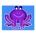 rana púrpura linda postal
