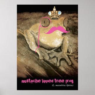 Rana retra divertida del latín del monóculo del bi póster