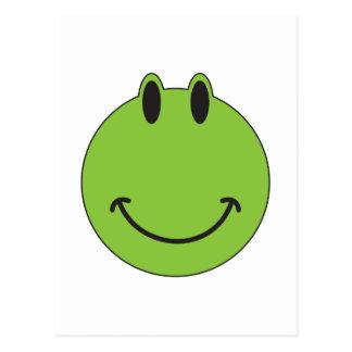 Rana sonriente de la cara postal
