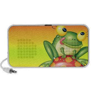 rana tonta linda en seta del toadstool iPhone altavoces